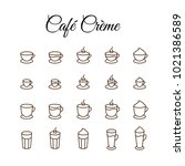 coffee drinks icons | Shutterstock .eps vector #1021386589