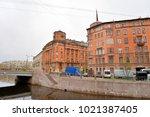 st.petersburg  russia   27 may... | Shutterstock . vector #1021387405