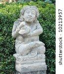 balinese stone sculpture in spa ... | Shutterstock . vector #10213957