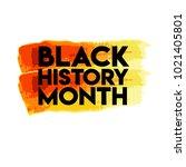 black history month logo vector ... | Shutterstock .eps vector #1021405801