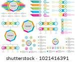 octagonal infographic design... | Shutterstock .eps vector #1021416391