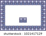 border or frame of abstract... | Shutterstock . vector #1021417129