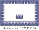 border or frame of abstract... | Shutterstock . vector #1021417135