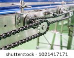 gear and chain drive shaft in... | Shutterstock . vector #1021417171