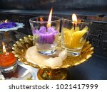 Pair Of Lighting Candles In Th...