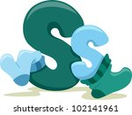 Illustration Featuring the Letter S - stock vector