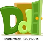 Illustration Featuring the Letter D - stock vector