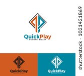 quick play   stylish letter q   ... | Shutterstock .eps vector #1021421869