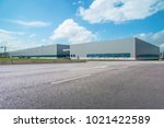 modern factory buildings and... | Shutterstock . vector #1021422589