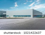 modern factory buildings and... | Shutterstock . vector #1021422637
