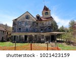 large  unsafe abandoned...   Shutterstock . vector #1021423159