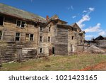 large  unsafe abandoned...   Shutterstock . vector #1021423165