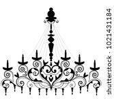 chandelier for decoration card | Shutterstock .eps vector #1021431184