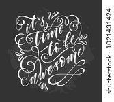 stylized inspirational...   Shutterstock .eps vector #1021431424