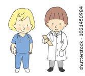 vector illustration of kid... | Shutterstock .eps vector #1021450984