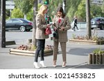 paris october 2 2016. natasha...   Shutterstock . vector #1021453825