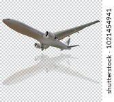 plane vector  plane on the... | Shutterstock .eps vector #1021454941