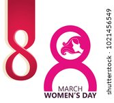 8 march womens day | Shutterstock .eps vector #1021456549