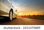 tourism car on highway with... | Shutterstock . vector #1021470889
