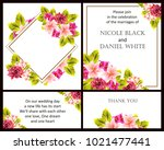 romantic invitation. wedding ... | Shutterstock . vector #1021477441