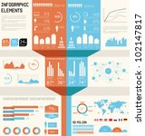 vintage infographics set. world ... | Shutterstock .eps vector #102147817