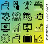 business vector icon set... | Shutterstock .eps vector #1021480645