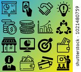 business vector icon set... | Shutterstock .eps vector #1021480759