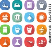 flat vector icon set   chemical ... | Shutterstock .eps vector #1021489651