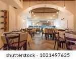 interior of a restaurant   Shutterstock . vector #1021497625