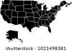 vector map of united states of... | Shutterstock .eps vector #1021498381