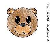 grated bear head cute animal... | Shutterstock .eps vector #1021501741