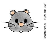 grated mouse head cute animal... | Shutterstock .eps vector #1021501759