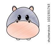 grated hippopotamus head cute... | Shutterstock .eps vector #1021501765
