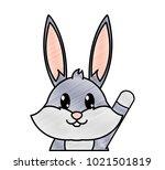 grated adorable rabbit cute... | Shutterstock .eps vector #1021501819