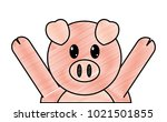 grated pig cute animal with... | Shutterstock .eps vector #1021501855