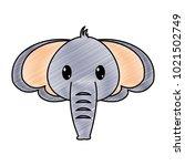grated elephant head cute... | Shutterstock .eps vector #1021502749