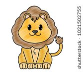 grated lion cute wild animal... | Shutterstock .eps vector #1021502755