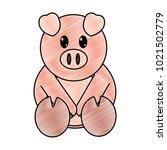 grated pig cute farm animal... | Shutterstock .eps vector #1021502779