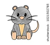 grated mouse cute wild animal... | Shutterstock .eps vector #1021502785
