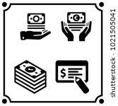 money set icon vector | Shutterstock .eps vector #1021505041