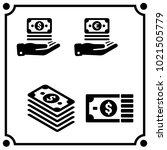 money set icon vector | Shutterstock .eps vector #1021505779