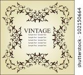 vintage frame design | Shutterstock .eps vector #102150664