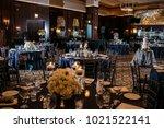 wedding table settings.wedding...   Shutterstock . vector #1021522141