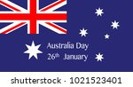 australian flag with the text... | Shutterstock . vector #1021523401