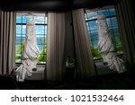 wedding dress. wedding dress on ... | Shutterstock . vector #1021532464