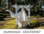 wedding dress. wedding dress on ... | Shutterstock . vector #1021532467