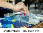 close up hand that picking a... | Shutterstock . vector #1021536445
