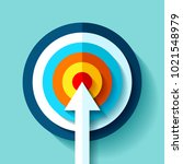 volume target icon in flat... | Shutterstock .eps vector #1021548979