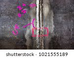 inspection of steel weld joined ... | Shutterstock . vector #1021555189