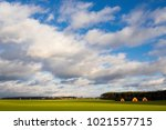 a spring rural landscape with... | Shutterstock . vector #1021557715